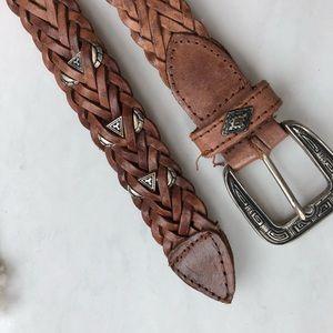Vintage Leather Boho Southwestern Belt